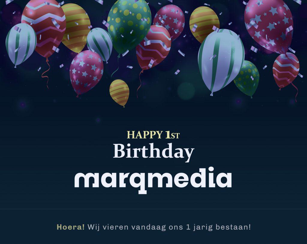 MarqMedia 1 jaar